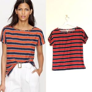 J Crew Gondola Boatneck Silk Short Sleeve T-Shirt